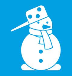 snowman icon white vector image vector image