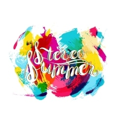 Stereo summer on spot background vector