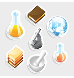 Sticker icon set for education vector image