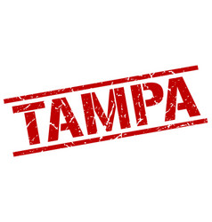 Tampa red square stamp vector