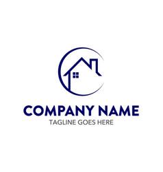 unique building logo template vector image