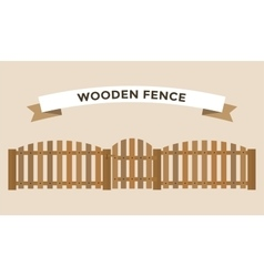 Wooden fence isolated on background vector