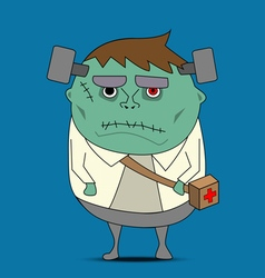 Frankenstein cartoon vector