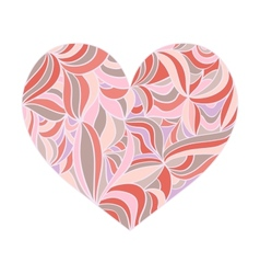 Ornamental heart in pastel shades vector