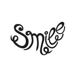 Inscription smile vector