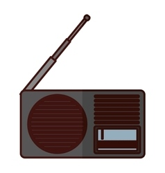 Analog radio icon image vector