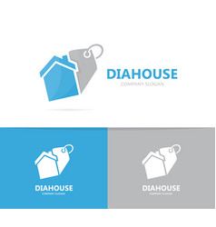 Real estate and tag logo combination vector
