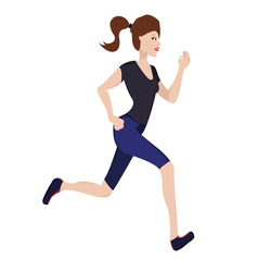 Jogging woman vector