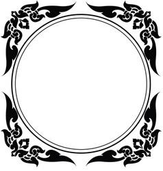 Circle frame of thai pattern vector