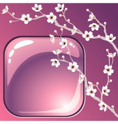 Tree blossoms vector