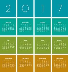 2017 boxes calendar vector