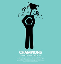 Champions graphic sign vector