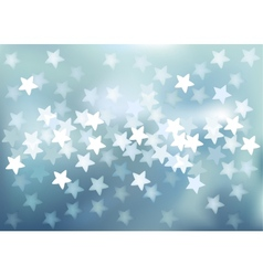 Blue festive lights in star shape background vector