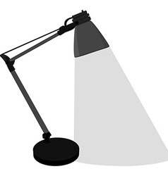 Grey table lamp vector