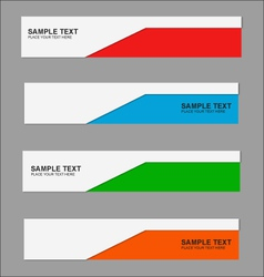 Business banner letterhead template vector