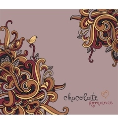 Background with abstract curls vector