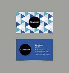 Simple name card template triangle style vector