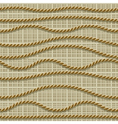 Seamless ropes vector
