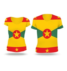 Flag shirt design of grenada vector