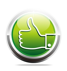 Abstract logo thumb up like finger design icon vector