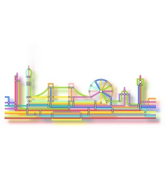 London skyline glow vector