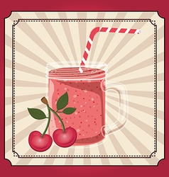 Fresh fruit juice vector