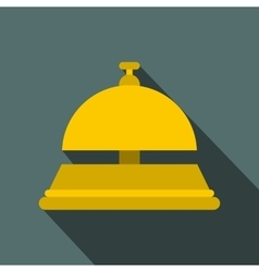 Reception bell flat icon vector