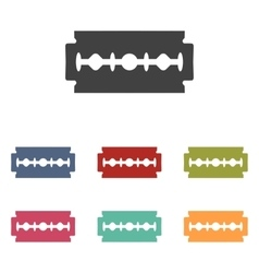 Razor blade icons set vector