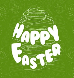 Happy easter typography lettering vector