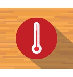 Thermometer isolated flat shadow vector