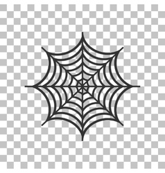 Spider on web  dark gray icon on vector