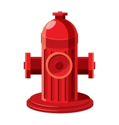 Fire hydrant icon in cartoon style vector