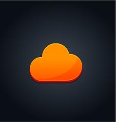 Cloud computing concept orange vector