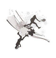abstract blot tennis background vector image vector image