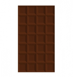 Bar of chocolate vector
