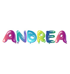 beautiful female name andrea text vector image