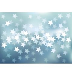 Blue festive lights in star shape background vector