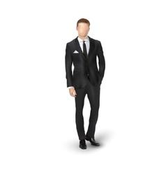 businessmen in suit vector image vector image