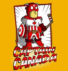 Captain Canada vector image