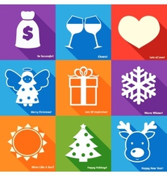 Christmas wishes set vector image vector image