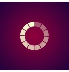 Circular loading icon vector