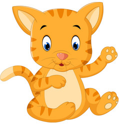 cute baby cat cartoon vector image vector image