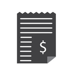 dollar bill invoice icon on white background vector image vector image