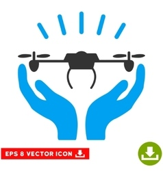 Drone Launch Hands Eps Icon vector image