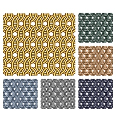 Entwined metal rings Seamless patterns vector image