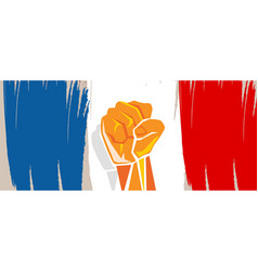 France flag independence painted brush stroke with vector