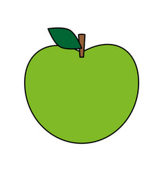 Green apple icon image vector