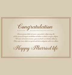 Invitation card for wedding style collection vector