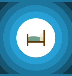 Isolated bearings flat icon bed element vector