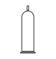 Latex condom black color icon vector